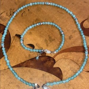 Jade beaded necklace and bracelet xs